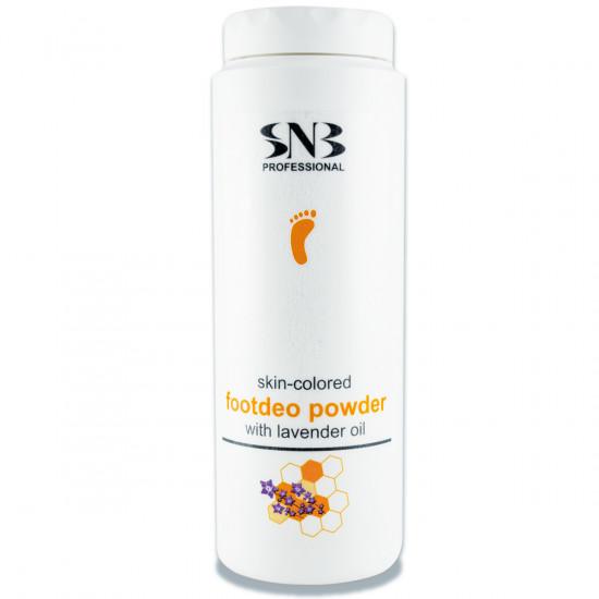 Дезодорирующая пудра для ног с прополисом и маслом лаванды (цвет кожи) SNB, 100 г